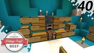 Boat Cave! - MINECRAFT (VintageCraft Server) - EP40 (Minecraft Video)