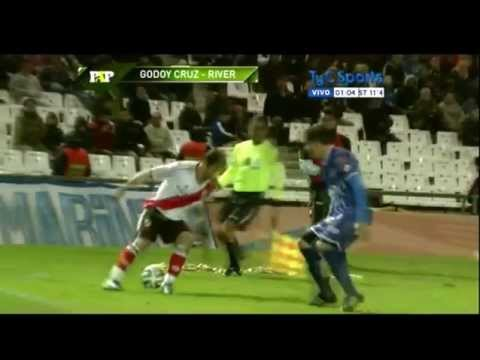 Godoy Cruz 0 vs River 4 - paso a paso - 24/08/14