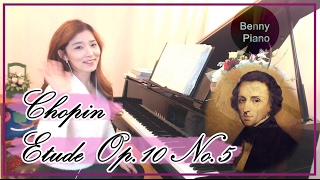쇼팽 에튀드 흑건 Chopin Etude Op.10 No.5 Black Key - Benny piano 베니피아노