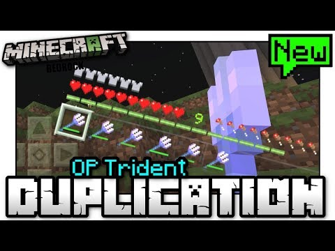 Minecraft - OP TRIDENT DUPLICATION GLITCH [ Tutorial ] MCPE / Xbox / Bedrock / Switch