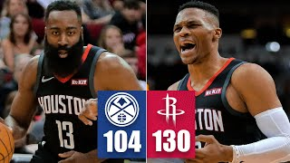 James Harden scores 35, Russell Westbrook trolls Nikola Jokic | 2019-20 NBA Highlights