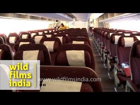 Inside view of Jet Airways flight