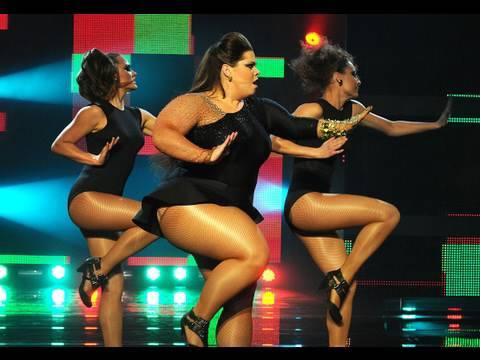 Katy Brand as Beyonce gets through to the Let's Dance for Sport Relief final