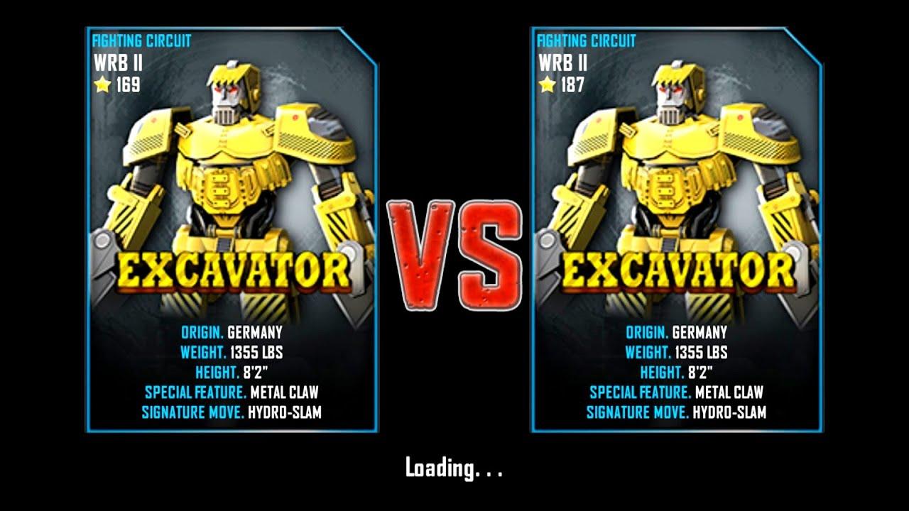 Excavator Real Real Steel Wrb ii Excavator vs