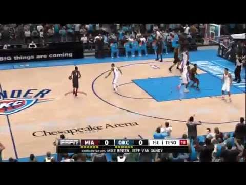 NBA Live 13 Leaked Miami Heat Vs Oklahoma City Thunder
