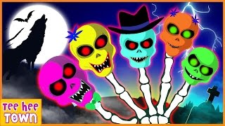 Skeleton Finger Family Rhymes Part 2 | Scary Nursery Rhymes by Teehee Town