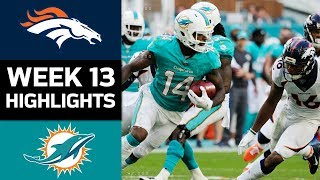 Broncos vs. Dolphins | NFL Week 13 Game Highlights