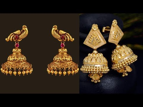Latest New Design Gold Earring Designs - She Fashion
