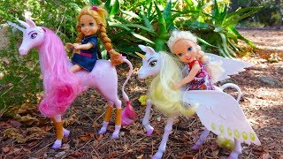 Elsa and Anna toddlers fairies and unicorns adventure