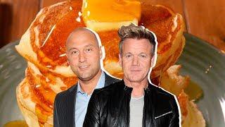 Gordon Ramsay Vs. Derek Jeter: Who Has The Best Pancake Recipe?   Celebrity Snackdown