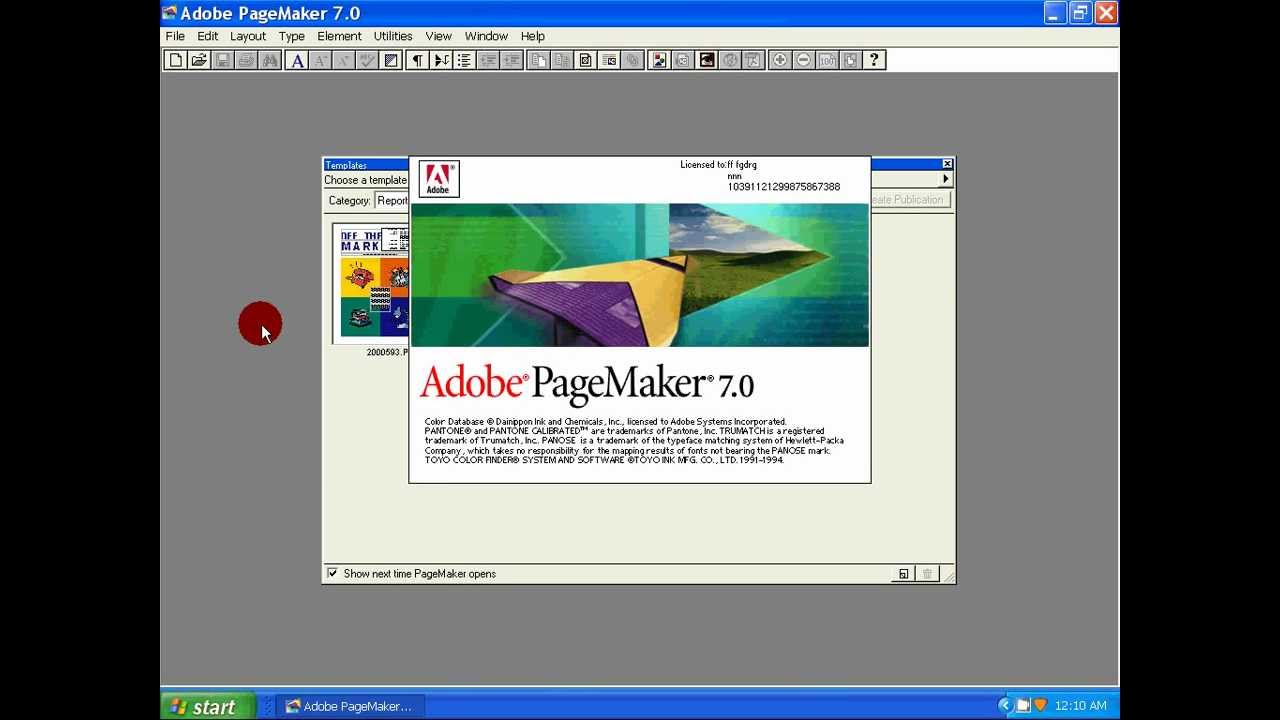adobe pagemaker 7.0 free download full version software with serial key