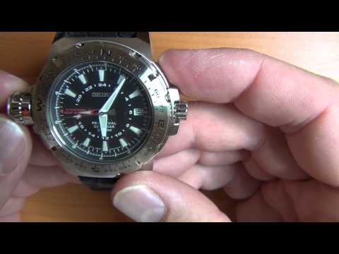 Wrist Watch Review: Part 8 - Seiko Map Meter  (Mile Marker) Perpetual Calendar 200M - 8F56