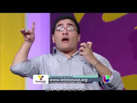 Juanpi Dolande en la teleton USA de univison parte 1