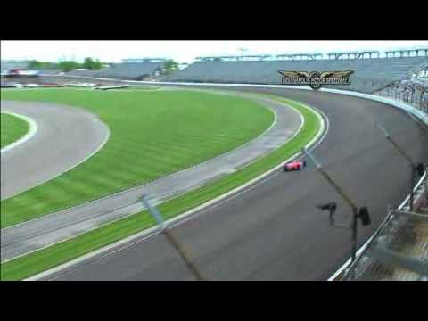 John Andretti crashes and Graham Rahal nearly hit him - Indy 500 2009 Video