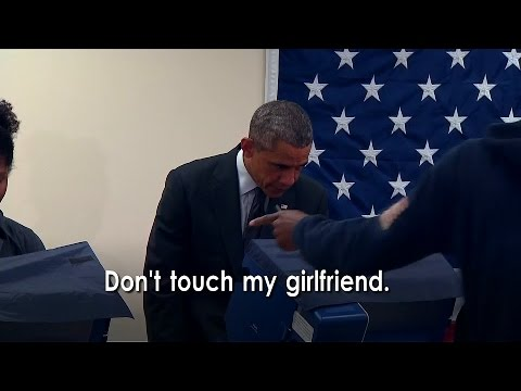Man Tells Barack Obama: 'Don't Touch My Girlfriend'