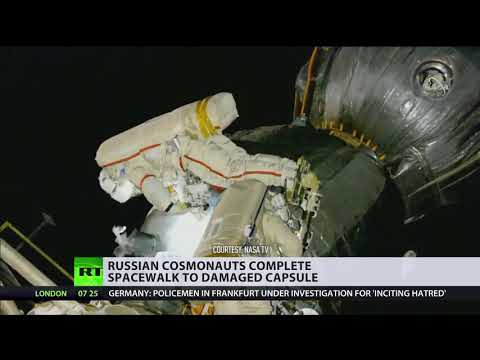 Russian cosmonauts perform space surgery to take samples from mysterious Soyuz hole