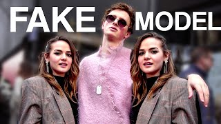 We faked a model to the top of London fashion week
