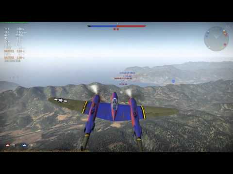 War Thunder Patch 1.39: P-38g... video