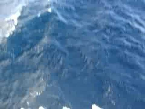 Wave On a Container ship