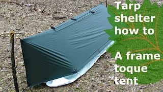 tarp shelter how to bad weather solo pitch & Papa hiker - ViYoutube.com