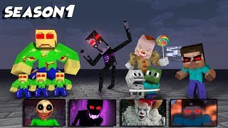 MONSTER SCHOOL : ( ALL SEASON ) - SCARY MINECRAFT ANIMATION