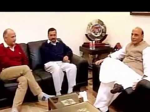 President Pranab Mukherjee meets Arvind Kejriwal, gifts him two books a report