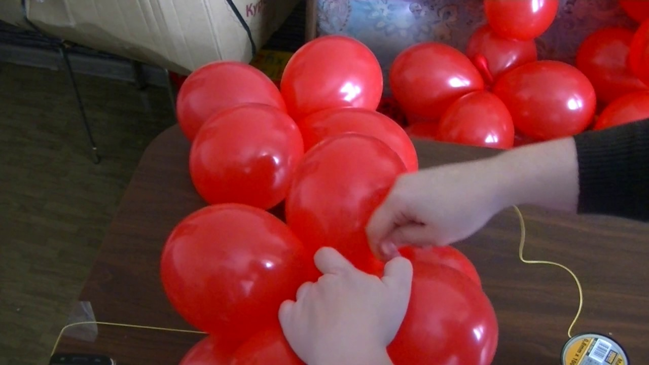 351Сердце из шариков каркас