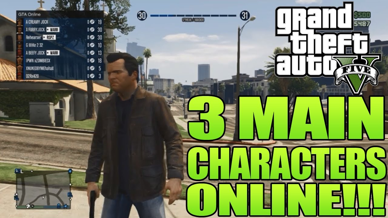 GTA 5 How To Play As The 3 Main Characters ONLINE (GTA V ...
