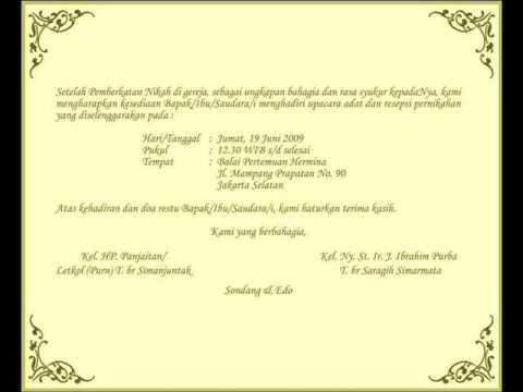 Undangan Pernikahan Sondang