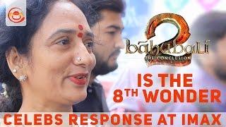 #Baahubali2 - Celebrities Response at IMAX - Prabhas, Anushka, Rajamouli