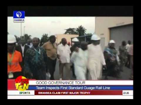 Good Governance Tour:Team inspects first standard guage rail line