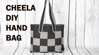 cheela 4 / flat patch work tote bag with zip pocket /DIY Bag Vol 22