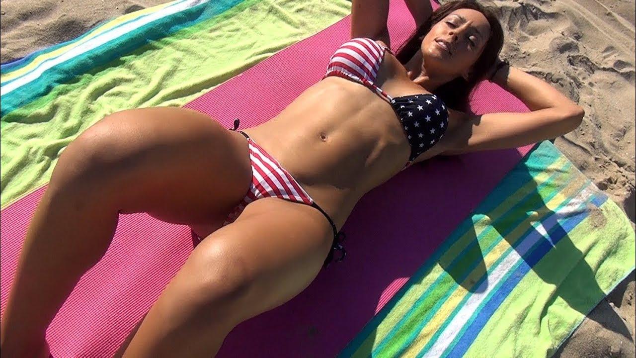 Bikini Model Ab Workout!!! - YouTube