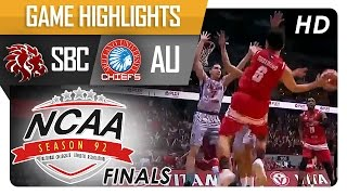 SBC vs AU | Game Highlights | NCAA 92 Finals | October 11, 2016