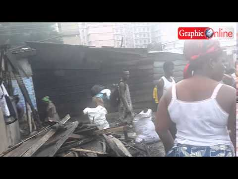Accra: Fire razes over 200 structures at Abuja
