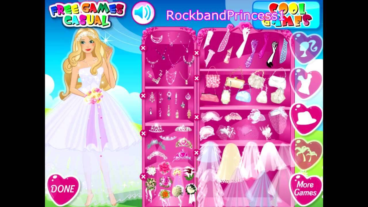 Barbie beautiful bride bridal game youtube