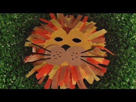 Máscara de león, disfraces caseros de carnaval