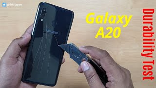 Samsung Galaxy A20 Durability Test | SCRATCH WATER BEND DROP | Gupta Information Systems | Hindi