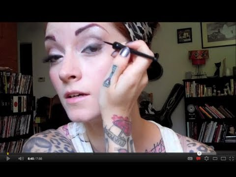 Pinup Makeup How To Tutorial by CHERRY DOLLFACE part 1