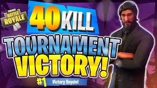 INSANE 40 KILL WIN! Tournament Highlight #4 (Fortnite Battle Royale)