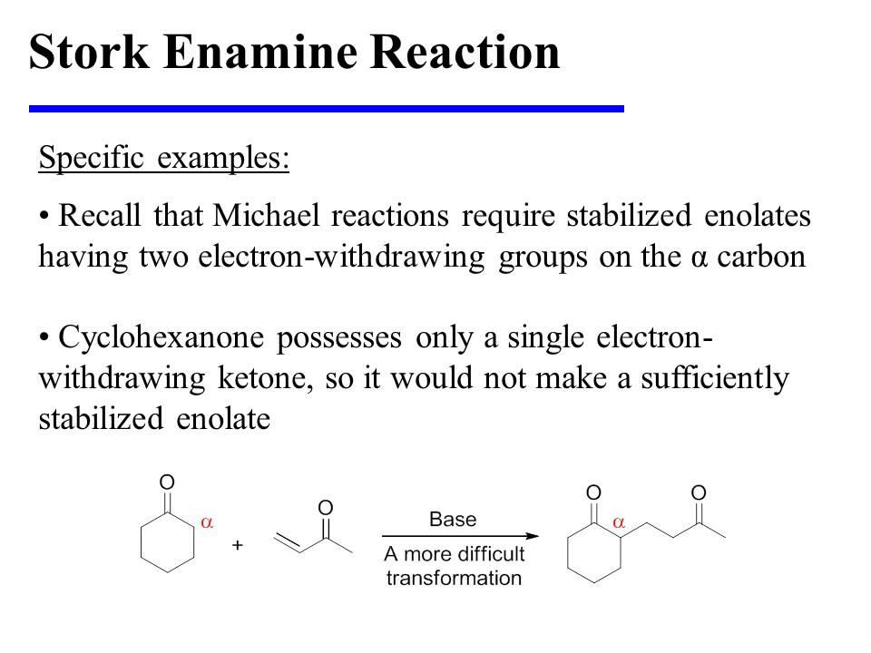 Stork Enamine Reaction - YouTube
