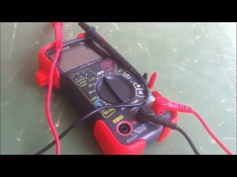 Tutorial - How To Use A Multimeter For Battery Voltage