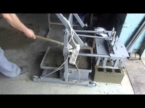 Изготовление самодельного шлакоблока