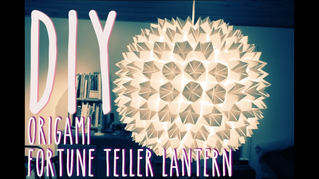 DIY Origami Fortune Teller Lantern YouTube