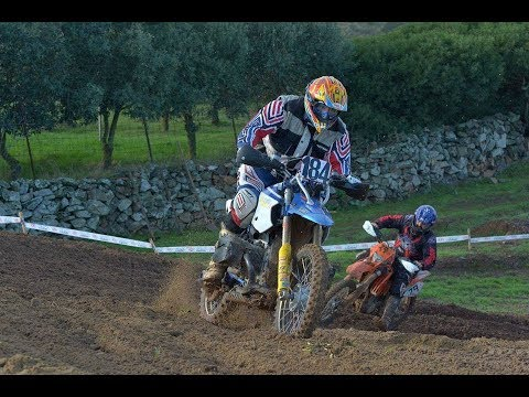 Motocross race with the BMW HP2 enduro, final laps