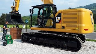 How to open a beer bottle with a Cat 323 excavator