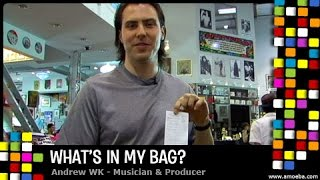 Andrew WK - What's In My Bag?