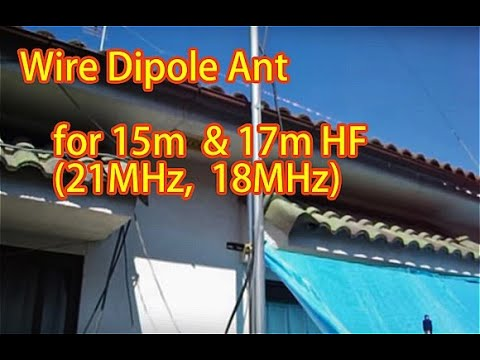 Ham Radio Wire Dipole Antenna for 10m/15m band