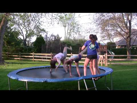 Cheerleading routine on Trampoline Video