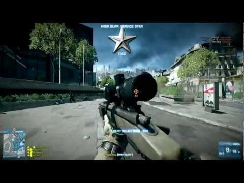 Battlefield 3 Online Gameplay - M40A5 Metro rush Attack PL2 BF4 BC3?
